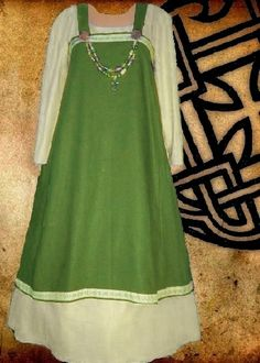 SCA Garb Norse Viking Costume Medieval Olive by CamelotsClosets