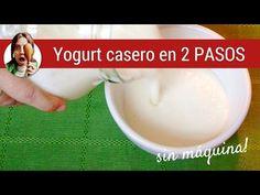 Cómo hacer Yogurt Casero en 2 pasos sencillos | Paulina Cocina Keto Recipes, Healthy Recipes, Healthy Food, Homemade Yogurt, How To Make Homemade, Easy, Desserts, Youtube, Natural