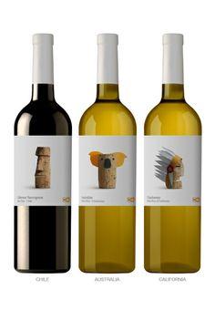 Etiquetas de vino muy originales #diseño #etiquetas #vino