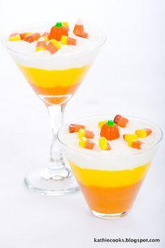 Candy Corn Pudding | #fall #autumn #halloween #treats