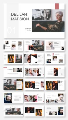 Clean & Fashion Model Presentation Template – Original and high quality PowerPoint Templat. Album Design, Design Websites, Presentation Layout, Presentation Templates, Portfolio Fotografia, Portfolio Design Layouts, Photography Portfolio Layout, Mise En Page Magazine, Mise En Page Portfolio