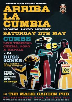 Flyer Design, Cumbia Event, 2013