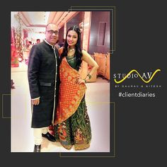 We make Happy Customers! #studioavbygauravnnitesh #clientdiaries #fashion #designerwear #happy #customer #fashiongoals #customersatisfaction #happyshopping #traditional #madhubani #lehenga