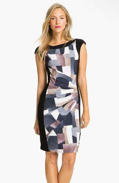 Alex & Ava Front Print Panel Jersey Dress | Nordstrom