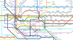 The History of Doctor Who as a Tube Map, with a Line for Each Doctor
