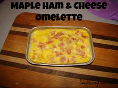 Maple ham and cheese omelette! Easy bake oven