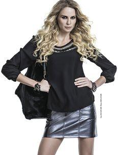 #lancaperfume #saia #inverno #blusa #metalizado eshop.lancaperfume.com.br