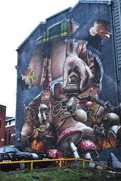 Glasgow Mural Trail, une promenade dans la ville au cours du street art ....