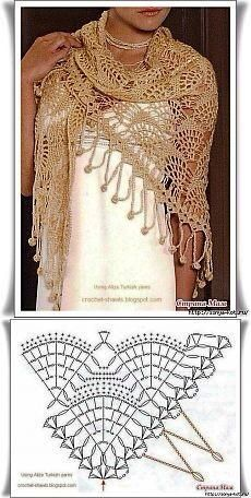 more shawl and stole diagrams at site