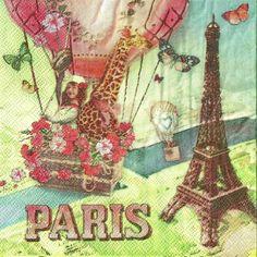 Servítka Paríž na dlani