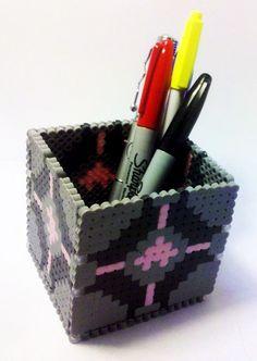 Portal companion box made with fuse beads