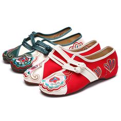 Chinese Embroidered Flower Mary Janes Buckle Casual Flat Loafers  Worldwide delivery. Original best quality product for 70% of it's real price. Hurry up, buying it is extra profitable, because we have good production sources. 1 day products dispatch from warehouse. Fast & reliable...