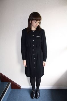 Black 80s Dress www.fromluluwithlovevintage.com