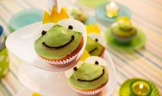 Zitronen-Froschkönige - Schnelle Muffins mit wunderschöner Dekoration für den Kindergeburtstag
