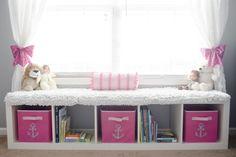 Pink and Navy Nautical Nursery Baby Girl Nursey, Boy And Girl Shared Room, Baby Baby Baby Oh, Big Girl Rooms, Girl Nursery, Nautical Girls Rooms, Nautical Theme Nursery, Nursery Themes, Toddler Princess Room