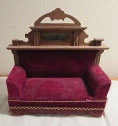 uraltes Sofa für die Puppenstube - Gründerzeit