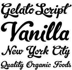 Gelato Script (Schizotype) 08.2011