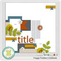 Template freebie from Little Green Frog Designs #scrapbook #digiscrap #scrapbooking #digifree #scrap
