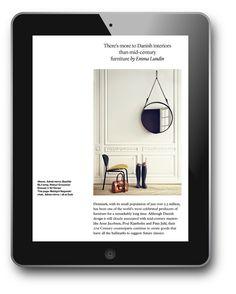 FutureSpace magazine by Atelier Dyakova, via Behance Layout Design, Web Design, Tablet Ui, Danish Interior, Online Apps, Publication Design, Digital Magazine, Layout Inspiration, Danish Design