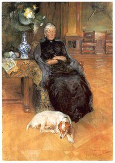 Portrait of Gothilda Furstenberg, 1891- Carl Larsson (Swedish,1853-1919)