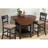 """Jofran""""South End 3 Piece Counter Height Dining Table Set in Brunette and Cherry"""