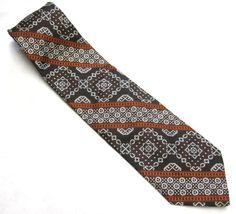 Brown White Orange Necktie Abstract Stripe Tie by sweetie2sweetie, $11.99