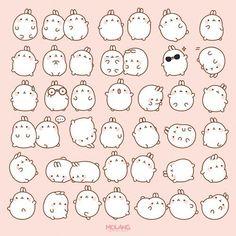 cute edit pink emoticon p kwaii molang kiiseu Diy Kawaii, Kawaii Chibi, Kawaii Shop, Kawaii Art, Kawaii Stuff, Stickers Kawaii, Cute Stickers, Kawaii Doodles, Cute Doodles