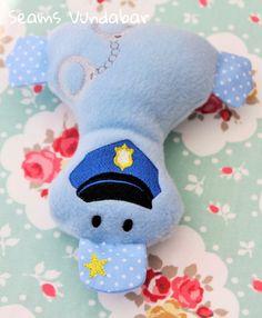 Cute Personalised Police Duckling by SeamsVundabarUK on Etsy
