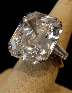 "From the Elizabeth Taylor personal collection, the ""Taylor-Burton Diamond"" 33.19 carat D flawless diamond ring (formerly known as the Krupp diamond)"