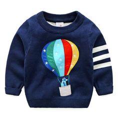 Toddler Boy Blue Balloon Sweater