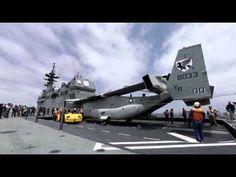Raw: Marines Land Osprey on Japanese Ship - YouTube