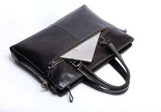 Genuine Leather Mens Cool Messenger Bag Briefcase Chest Bag Bike Bag C – iChainWallets