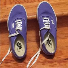 Purple unisex Vans. These shoes have been worn once or twice. They are think bottom authentic Vans that are Men's: 7.5 and Women's: 9. Make and offer or ask any questions please! Vans Shoes Sneakers