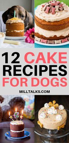 Millennial Talks - 12 Delicious Cake Recipes for Dogs Dog Cake Recipes, Dog Biscuit Recipes, Delicious Cake Recipes, Dog Treat Recipes, Yummy Cakes, Dog Food Recipes, Gourmet Dog Treats, Healthy Dog Treats, Pet Treats