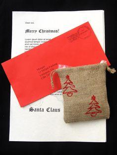 Letter from Santa Letter w/ Reindeer Food by LookingGlassDesigns1