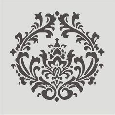 Stencil Damask pattern 43 Flourish Wall stencil by oklahomastencil, $10.95