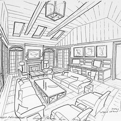 Concept sketch for a family room space for a project #GarrowKedigian #Interiors #InteriorDesign #FamilyRoom #FamilyRooms #Sofa #Sofas #CoffeeTable  #Drawings #Drawing #HandDrawn #Concept #ConceptSketch #FurniturePlan #FurnitureLayout #LayoutPlan #ceilingbeams #FrenchDoors #BuiltInCabinetry #BuiltInBookcase #BuiltInCabinet #newyork #newyorkhomes #newyorkdesign #long island #longislandhomes #longislanddesign #lantern #fireplace #desk