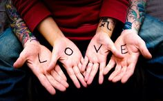 Love Letters Tattoos Arms Boy HD Wallpaper