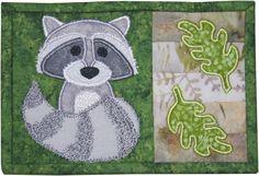 Raccoon Mug Rug Pattern - via @Craftsy