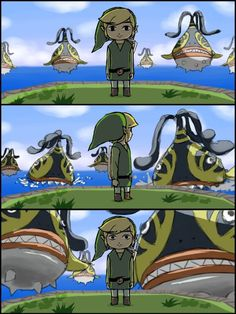The Legend of Zelda: The Wind Waker, Toon Link and Seahats / 「・・・」/「クル」のイラスト [pixiv] I hate those things! The Legend Of Zelda, Legend Of Zelda Breath, Video Game Art, Video Games, Princesa Zelda, Wind Waker, Twilight Princess, Breath Of The Wild, Funny Games