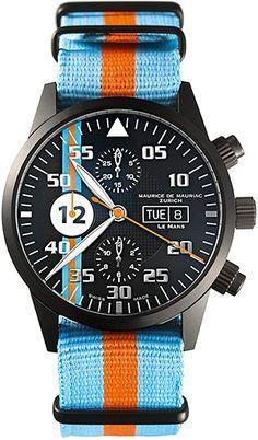 Maurice De Mauriac Zurich- Chronograph Modern - Modell Le Mans Orange   juwelier-haeger.de