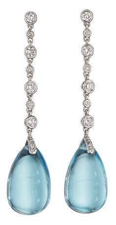 http://rubies.work/0256-ruby-rings/ Classic blue topaz and diamond earrings. Such beauties! (Via Phillips.)