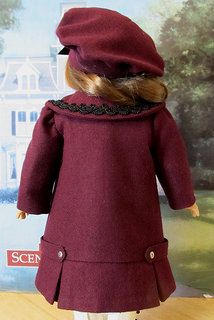 Back View of Early 1900's coat and hat
