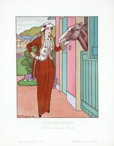 Charles-Frederick Worth, in Gazette du Bon Ton, 1913, illustration by Maurice Taquoy