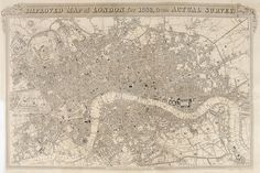 SCHMOLLINGER, William. Improved Map of London for 1833, from Actual Survey. #map #london http://sotherans.blogspot.co.uk/