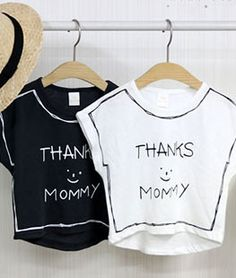 Thanks Mommy T-shirt- MINI DRESSING  #kid #kids #kidsfashion #instafashion…