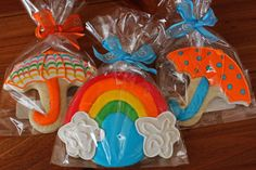 umbrella/rainbow cookies ~ CUTE for a baby shower!  :D