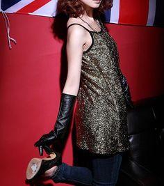 Gold Strap Shift Dress