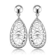 fonk silver earing strange web face stud cuff summer jewelry HBE270 * For more information, visit image link.