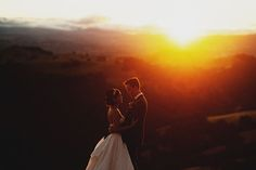 sunset bride and grooms #goldenhourphoto